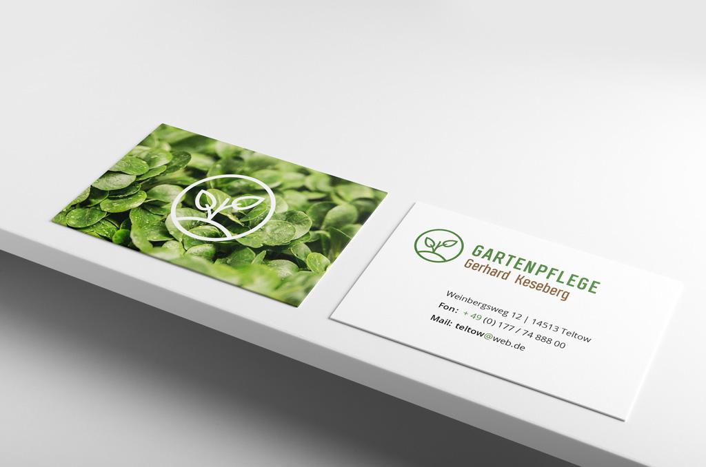 gartenpflege - Jonas Keseberg // Visuelle Kommunikation & Grafik Design
